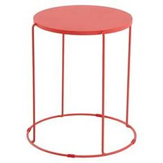 Metal Accent Patio Table Coral - Room Essentials™ : Target