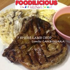 Did you know that we marinade the lamb chop with 7 Spices to make your lamb chop more tender & flavorful   Let's order our bestseller #7Spices #LambChop [RM14.90] combo #Carbonara [RM10.90]  Served with blackpepper sauce.  Jom MakanSini / Tapau / HomeDelivery  Whatsapp [012-7166300]  #sedapgila #yummy #marvelous #seriouslygood #sizzlingtaste #affordable #halal #westernfood #shahalam #recommended #top5restaurantinshahalam  #thebestbrowniesinshahalam #hungrygowhere #tripadvisor #foodadviso