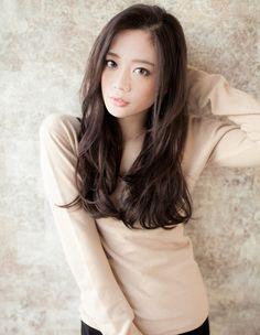 前髪長めIラインロングTA−55   ヘアカタログ・髪型・ヘアスタイル AFLOAT(アフロート)表参道・銀座・名古屋の美容室・美容院