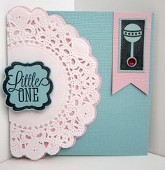 Little One card by @Kim Barrett featuring @Core'dinations papers and  Hampton Art licensed @Echo Park Paper stamps