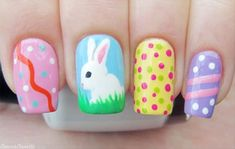 19 Best Easter Nail Art Designs For Your Inspiration Nail Designs 2015, Easter Nail Designs, Easter Nail Art, Cute Nail Designs, Diy Nails, Cute Nails, Pretty Nails, Nail Art Simple, Cool Nail Art