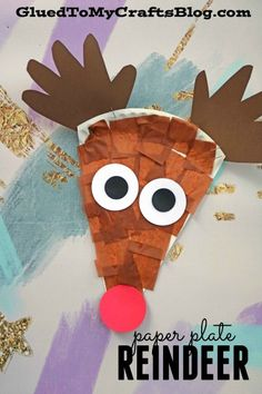 Paper Plate Reindeer- Christmas Kid Craft - Handprint Antlers
