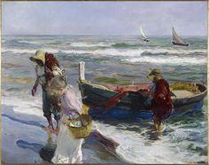 Return from Fishing (1889), by Joaquín Sorrolla i Batista