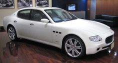 maserati quattroporte. rode in one of these. this car is super fast, my heart felt like it was leaving my chest :-o