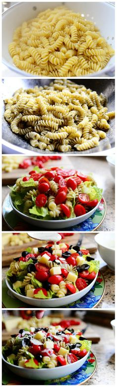 Pesto Pasta Salad - This is made with everything fresh & is so tasty...