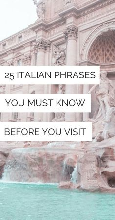 Italian words and phrases to know before going to Italy! Italy travel planning