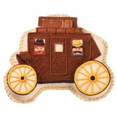 Feed your little and large cowpokes' pioneering spirits with this stagecoach cake. Our Princess Carriage Pan bakes a cake you can easily transform into a Westward Ho wagon with piped icing details and graham-cracker suitcases.
