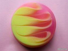 How to make strawberry-banana soap swirl basis for