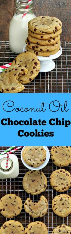 Coconut Oil Chocolate Chip Cookies   Lou Lou Biscuit