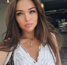 long hairstyle + makeup + eyes + lips / #beauty #fashion #hairstyles