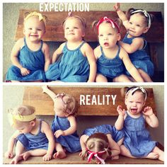 Life with quadruplets! Expectation vs reality!  Www.facebook.com/gardnerquads