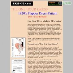 How To Make A 1920s Flapper Style Dress In Only One Hour! Includes 4 Special Bonuses. See more! : http://get-now.natantoday.com/lp.php?target=1920dash30