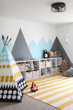 עיצוב באמצעות צבע קיר בחדר ילדים