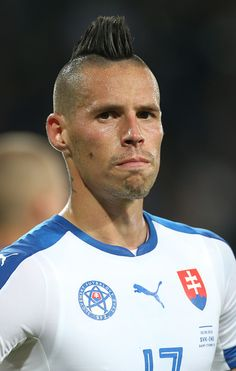 #EURO2016 Marek Hamsik of Slovakia looks on during the UEFA EURO 2016 Group B match between Slovakia and England at Stade GeoffroyGuichard on June 20 2016 in...