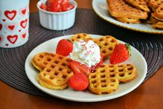 Strawberry Waffles Make Us Happy - Food Fanatic