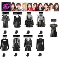 Designer Clothes, Shoes & Bags for Women Kpop Fashion Outfits, Stage Outfits, Edgy Outfits, Dance Outfits, Girl Outfits, Cute Outfits, Kpop Costume, Korean Girl Fashion, Shows