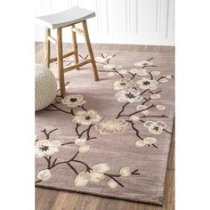 Quality meets value in this beautiful modern area rug. Handmade with Polyester to prevent shedding, this plush area rug will enhance any home decor. Girls Rugs, Plush Area Rugs, Modern Area Rugs, Online Home Decor Stores, Home And Garden, Flooring, Living Room, Flowers, Oatmeal