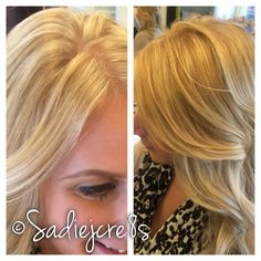 Blonde with a base bump by Sadie