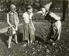 Vintage Halloween costumes are definitely creepy, scarier than most costumes today. ,