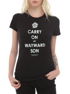 Supernatural Kansas Carry On Wayward Son Girls T-Shirt