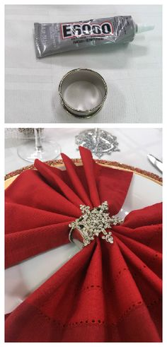 Take your tablescape to the next level with a DIY Napkin Ring from @cristinacooks & @kennethwingard! Catch #homeandfamily weekdays at 10/9c on Hallmark Channel!