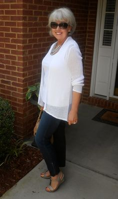 Fifty, not Frumpy: Jeans and White
