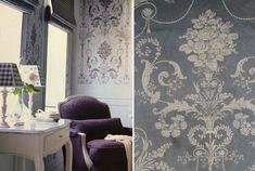 Lounge Wallpaper Ideas Laura Ashley 36 New Ideas French Country Cottage, Cottage Style, Laura Ashley Josette, Interior Inspiration, Design Inspiration, Design Ideas, Soft Furnishings, Home Textile, Lounge