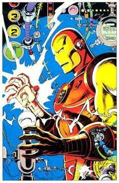 Marvel Fanfare Pinup of the Day Iron Man by Bill Reinhold, from MF Marvel Comic Books, Marvel Dc Comics, Marvel Heroes, Comic Books Art, Comic Art, Book Art, Iron Man Art, Marvel Entertainment, Manga