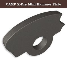 CAMP X-Dry Mini Hammer Plate. Small hammer plate compatible with the X-Dry, X-All Mountain and X-Alp ice tools. The plate extends slightly beyond the aluminum head of the axe so it can pound in an emergency.