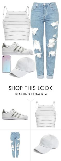 """Everyday casual"" by mina4813 ❤ liked on Polyvore featuring adidas Originals, Glamorous, Topshop and rag & bone"