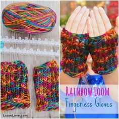 fingerless gloves rainbow loom