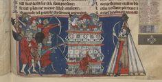Français 24364, fol 29r, Roman de toute chevalerie, Eustache ou Thomas de Kent 1301-1400.