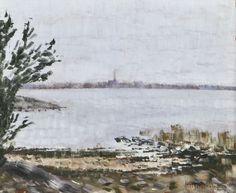Helge Dahlman (Finnish, 1924-1979), Seurasaari landcape, 1972. Oil, 18 x 22 cm.