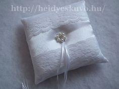 Csipkés, elegáns esküvői gyűrűpárna Throw Pillows, Toss Pillows, Cushions, Decorative Pillows, Decor Pillows, Scatter Cushions