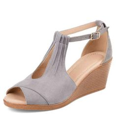 3106c5d92 Fish Mouth Suede Word Buckle With Wedge Side Air Sandals