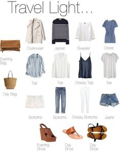travel light summer - travel light - travel light packing - travel light winter - travel light summer - travel light carry on - travel light spring - travel light outfits - travel light beach Capsule Wardrobe, Travel Wardrobe, Wardrobe Ideas, Summer Wardrobe, Travel Outfit Summer, Summer Travel, Summer Outfits, Winter Travel, Tommy Hilfiger Hoodie