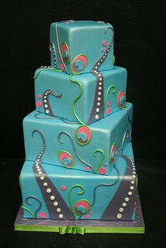 Are those octopus tentacles? Regardless, this cake is fantastic! By Gimme Some Sugar Cake Designs, Las Vegas