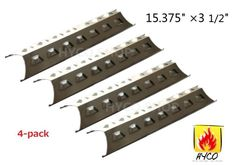 BBQ Gas Grill 4 Heat Plates for Brinkmann Master Forge Perfect Flame Part #Hyco