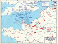 The map below gives the order of battle for the Allies and the German land and air forces on the morning of D Day. How to read the symbols is explained below. Operation Overlord, D-Day 6 June 1944