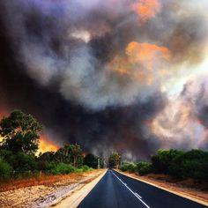 27th January 2015 bushfire northern suburbs of Perth, Western Australia