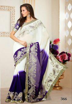 sari indien couleur blanc