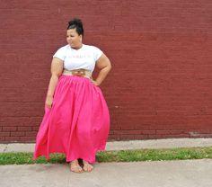 Kid Fury Tee, JIBRI High Waist Skirt, Plus Size clothing
