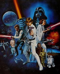 Awesome old Star Wars poster. #massivenerd