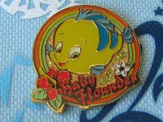 Tokyo Disney Trading Pin - Cute Baby Flounder Ariel The Little Mermaid - 40257