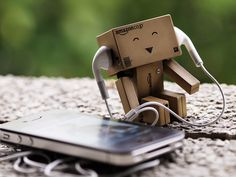 danbo is happy and listening to music