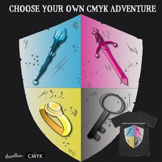 Choose your own CMYK adventure on Threadless