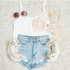 Image via We Heart It #beauty #clothes #fashion #floral #girls #hair #outfit #summer