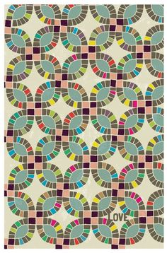 quilt - but I think I would want to try the pickledish pattern as a backsplash in my kitchen... sound crazy??  I have no idea how I'm going to do it!