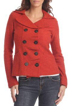 Luii Boiled Wool Short Jacket In Orange