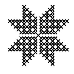 Star Kilim Motif, for happiness and fertility (Solomon's